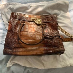 Michael Kors Hamilton Brown Leather Bag
